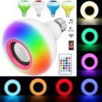 Оригинал E27 12W SMD2835 RGB Bluetooth Динамик Музыка Воспроизведение LED Умная лампочка с Дистанционное Управление AC85-220V