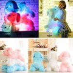 Оригинал Творческий милый индуктивный ночной плюш LED Glow Soft Light Up Stuff Toy Собака Pet Pillow