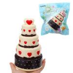 Оригинал Squishy Cake 11 * 18 CM Super Slow Rising Cream Ароматизированный оригинальный пакетный ремешок для телефона с упаковкой