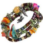 Оригинал Многослойный тибетский буддист Colorful Браслет из бисера Unisex