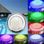 Оригинал 18W RGB IP68 Водонепроницаемы Смола плавание Бассейн Легкий многоцветный подводный LED Ночь Лампа 12V