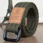 Оригинал Ремни для полотенец для мужчин Военный Style D-ring Buckle