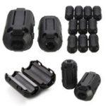 Оригинал 10Pcs Черный EMI RFI Шумовой ферритовый фильтр фильтра Шум на кабелях 7 мм