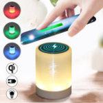 Оригинал Беспроводное зарядное устройство 10000mAh Банк мощности Светодиодный Лампа для iPhone X для Samsung
