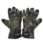 Оригинал ZANLURE1параCamoAnti-SlipWinter Warm 3 Finger Cut Перчатки На открытом воздухе Рыбалка Охота Перчатки