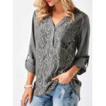 Оригинал S-5XL Casual Женское Кружева для сращивания V-образным вырезом Рубашка