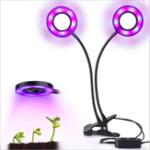 Оригинал 24W Daul Head LED Растение Grow Light Flexible Desk Clip Лампа для овощей Фрукты Цветы Гидропоника