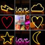 Оригинал LED Colorful Ночной свет Батарея Powered Neon Лампа Главная Room Party Decor