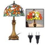 Оригинал  Retro Glass Butterfly LED Настольная лампа для чтения прикроватных тумбочек Лампа AC110V / 220V