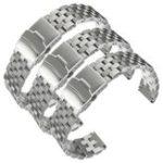 Оригинал 20 ~ 24 мм Серебряный нержавеющей стали наручные часы ремешок Стандарты