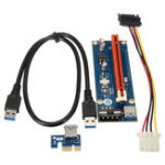 Оригинал 0.6m USB 3.0 PCI-E Express 1x до 16x Extender Riser Board Card Adapter Mining Bitcoin