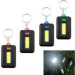 Оригинал Мини Портативный COB LED Работа инспекции фонарик Батарея Powered Key Chain палатка Pocket Лампа