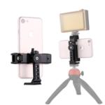 Оригинал PULUZ PU367 360 градусов Вращающийся универсальный телефон Металл Зажим Кронштейн держателя для iPhone Galaxy Huawei Xiaomi Sony для HTC Смартфоны Google
