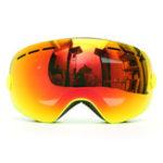 Оригинал Snowboard Ski Goggle Anti-Fog Double Объектив UV мотоцикл Верховая желтая рамка