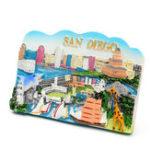 Оригинал Смола холодильник Магнит Туристический сувенир Любимые путешествия смолы 3D холодильник Магнит Сан-Диего