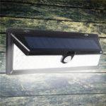 Оригинал 90LED Солнечная Powered Motion Датчик Настенный светильник На открытом воздухе Водонепроницаемы Безопасность Лампа для Сад Двор