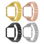 Оригинал Нержавеющая сталь Замените ремешок для часов Стандарты + Металлическая рама для Fitbit Blaze Tracker