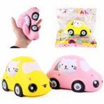 Оригинал Sanqi Elen Cartoon Face Car Дизайн Squishy Кукла Телефонные ремни 15CM Медленная восходящая игрушка с упаковкой