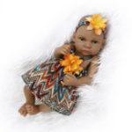 Оригинал NPK 11 дюймов 28см Reborn Baby Soft Силиконовый Кукла Handmade Lifeike Baby Girl Куклаs Play House Toys День рождения