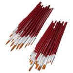 Оригинал 12Pcs Paint Щетка Набор для Масло Акварельный акриловый рисунок живописи Art Ручка Craft Drawing Supplies