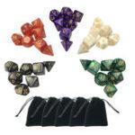 Оригинал 35Pcs Многогранные кубики Set Polyhedral Dice Ролевые игры Gadget 5 Colors