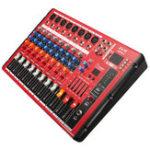 Оригинал EL M SMR801 8-канальный Bluetooth Консоль микшерного пульта Karaoke KTV DJ Stage Mixer