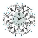 Оригинал Современный стиль Diamond 3D Бесшумный Стена Часы Non-Ticking Movement для домашнего декора ресторана