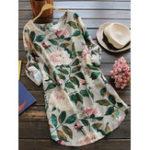 Оригинал M-5XL Women Floral Print Shirt Dress