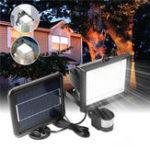 Оригинал 196 LED Солнечная Powered PIR Motion Датчик Настенный светильник На открытом воздухе Сад Light Control Security Flood Лампа