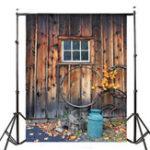 Оригинал 7x5ft Village Wood Lodge Тематическая фотография Vinyl Backdrop Studio Background 2.1mx 1.5m