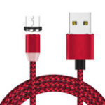 Оригинал Bakeey 360 градусов Магнитный LED Микро USB плетеный кабель для зарядки данных для Samsung S8 Note 8 S9 Xiaomi