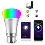 Оригинал B22 7W RGBW WIFI LED Умная лампочка с Echo Alexa Главная страница Google AC85-265V