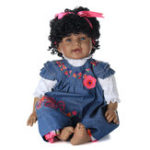 Оригинал NPK 21 дюймов 55 см Biracial Reborn Baby Soft Силиконовый Кукла Handmade Lifeike Baby Girl Куклаs Play House Toys Bir