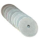 Оригинал 5 дюймов 50-6000 Grit Diamond Polishing Pad Мокрый сухой шлифовальный диск для мраморного бетонного гранитного стекла