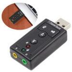 Оригинал Bakeey ™ USB 2.0 Внешний канал звуковой карты 7.1 Адаптер 3,5 мм Микрофон Аудиовход для наушников