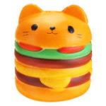 Оригинал 11 * 10CM Squishy Cute Hamburger Кот Медленный растущий мультфильм Ароматизированный хлеб Soft Fun Toy