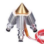 Оригинал 3D-принтер Часть 3-в-1-Out 1,75 мм 0,4 мм латунь Multi Nozzle Набор с нагревательным стержнем и терморезисторами