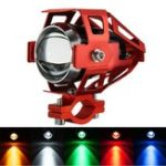 Оригинал 12V-80V U5 LED мотоцикл Противотуманная фара Лампа Spot Light Red Frame