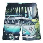 Оригинал Полиграфическая доска Mens Fashion 3D Bus Quick Drying Пляжный Шорты