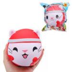 Оригинал Ehamelean Christmas Кот Кукла Squishy 12x10x10cm Медленный рост с подарком коллекции упаковки Soft Toy