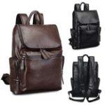 Оригинал   Водонепроницаемы 15,6 дюймов Рюкзак для ноутбука Мужская мода Кожа PU Рюкзаки для путешествующих пешком Кемпинг