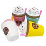 Оригинал Jumbo Coffee Cup Squishy Cream Ароматические Медленные Восходящие игрушки для детей Soft Телефонный ремешок