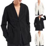Оригинал INCERUN Винтаж Китайский стиль льняные хлопчатобумажные рубашки