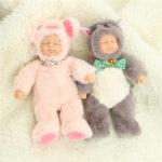 Оригинал  Mini 25cm Soft Полностью тело Силиконовый Reborn Кукла Sleeping For Gift Bath Toy
