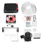 Оригинал 120 мм DIY PC Водяная жидкость Охлаждающий вентилятор Набор Комплект радиатора Блок CPU Water Насос Водохранилище Шланг