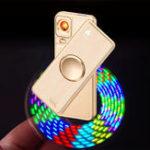 Оригинал Творческий прядильный электронный электронный прикуриватель USB аккумуляторная электрическая сигарета Чехол Зажигалка