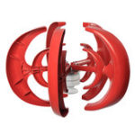 Оригинал 12V / 24V 400W Wind Turbine Wind Generator Lantern Vertical Axis Permanent Магнит Генератор переменного тока