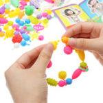 Оригинал 380PCS поп бисером игрушки Snap вместе ожерелье и браслет ремесла ювелирные изделия Набор DIY образовательные игрушки