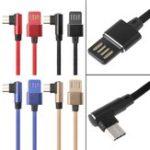 Оригинал Bakeey 90 градусов Type-C Обратимый кабель для передачи данных USB для Oneplus 5t Xiaomi 6 Mi A1 Примечание 3 S8