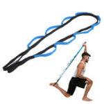 Оригинал 10 шлейфов Спортивное оружие Ноги Задние плечи Фитнес Складные Yoga Ремень для растяжки